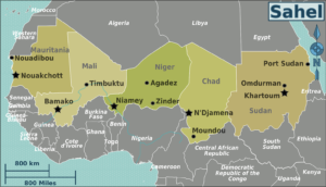 Sahel Region Map from carbonbrief.org