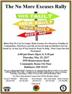 No Excuses Rally Flyer
