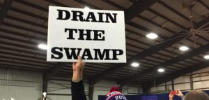 Trump Crowd Drain The Swamp 1