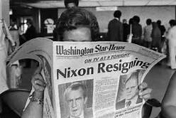 Nixon Resigns Newspaper